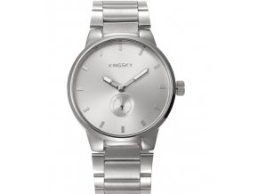 Módní hodinky stříbrné ocelové Kingsky
