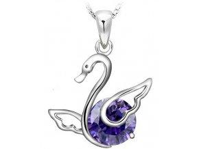 Atraktivní náhrdelník s řetízkem labuť