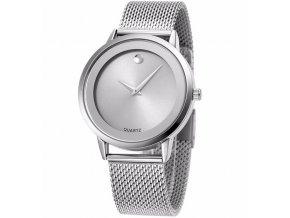 Atraktivní dámské hodinky zn. Belbi - velké stříbrné