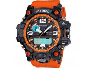oranzove sportovni hodinky velke