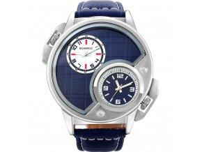 Atraktivní hodinky se dvěma pásmy - Boamigo modré