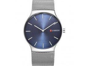 e28b2369343 Atraktivní hodinky Curren celokovové ultra tenké - stříbrné