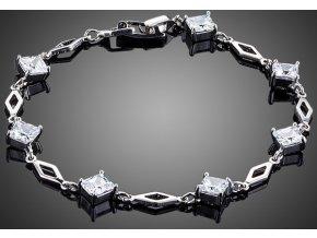 retizek na ruku stribrny s krystaly