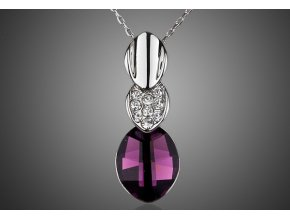 privesek stribrny fialovy kamen