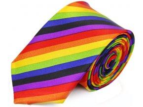 duhova kravata slim pruhovana