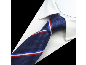 kravata hedvabna modra prouzky