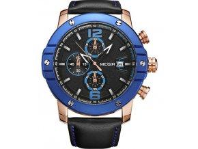 velke modre zlate panske hodinky luxusni velky cifernik