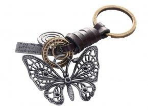 motyl privesek klicenka vintage