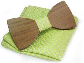 dreveny motylek zeleny kapesnicek