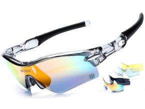 Sportovní sluneční brýle Robesbon Screw set s 5 skly - polarizační a UV400