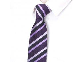 vinova fialova kravata panska