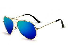 modre slunecni bryle pilotky