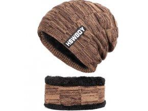 zimni pletena cepice s koziskem