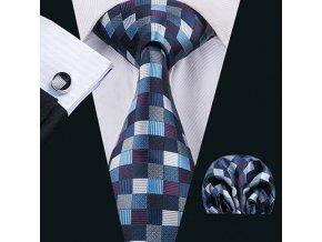 kravata kostkovana hedvabna