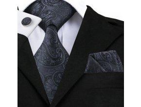 cerna kravata set vzor