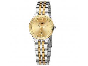 Elegantní dámské hodinky s datumovkou - zlato-stříbrné