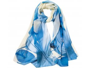 damsky satek modry kremovy