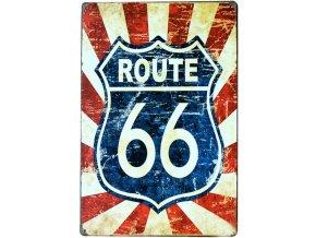 retro plechova cedule route 66