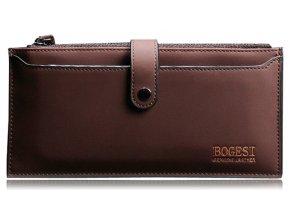 Pánská / unisex peněženka Bogesi dlouhá - hnědá s organizérem