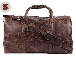 1 velka cestovni taska brasna kozena panska