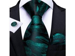 kravatovy set cerny zeleny