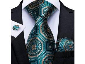 kravatovy set zelenozlaty