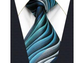 panska modra kravata moderni