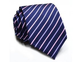 panska kravata modra fialova