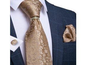 zlaty kravatovy set zlata kravata svatebni