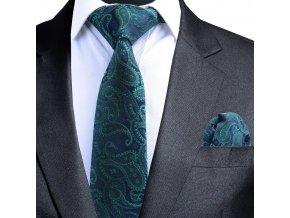 zeleny kravatovy set
