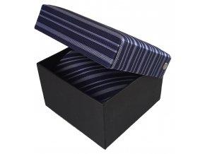 panska modra kravata pruhovana
