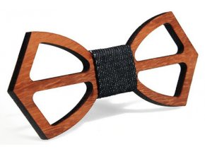 Pánský motýlek dřevěný - jednoduchý