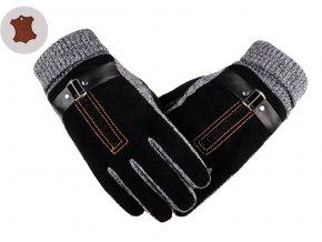 panske cerne rukavice kozene kvalitni