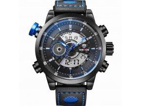 Atraktivní hodinky Weide WH3401 modré - duální čas, den, datum, alarm