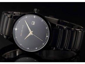Atraktivní dámské hodinky Taylor Cole Echo s datumem - černé
