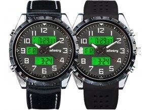 Hodinky army Infantry Police FS-004 se dvěma řemínky - čas, datum, den, alarm...