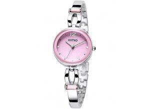 Elegantní dámské hodinky Kimio Sweet stříbrné - růžové