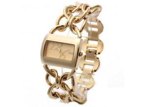 Elegantní dámské hodinky G&D hranaté - zlaté