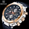 benyar panske luxusni hodinky modre zlate