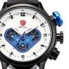 Atraktivní hodinky zn. Shark - čas, 24h pásmo, datum, den - modré
