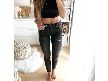 Tmavě šedé skinny jeans