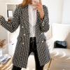 Elegantní kabát s kohoutí stopou