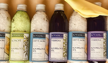 Sůl do koupele | Verbena sůl | Mořská sůl | Konopí sůl