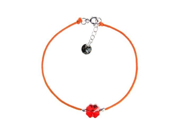 naramek bavlna cerveny krystal swarovski stribro ag 925 1000