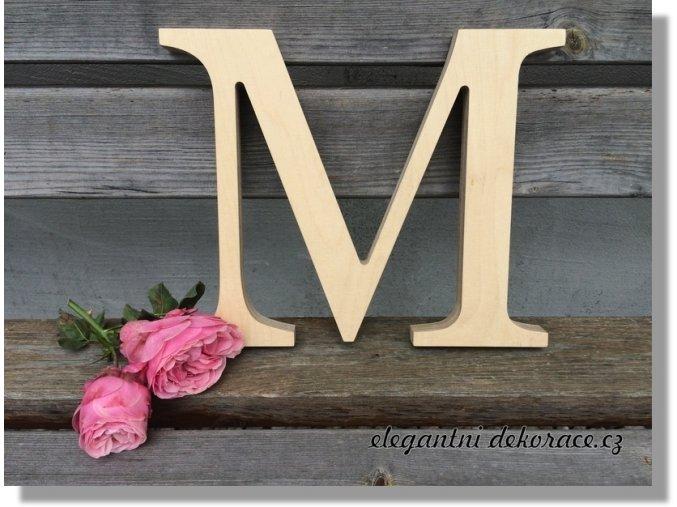 Písmeno M - velké