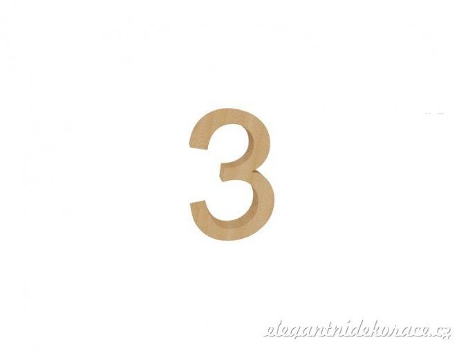 číslo 3 přírodní