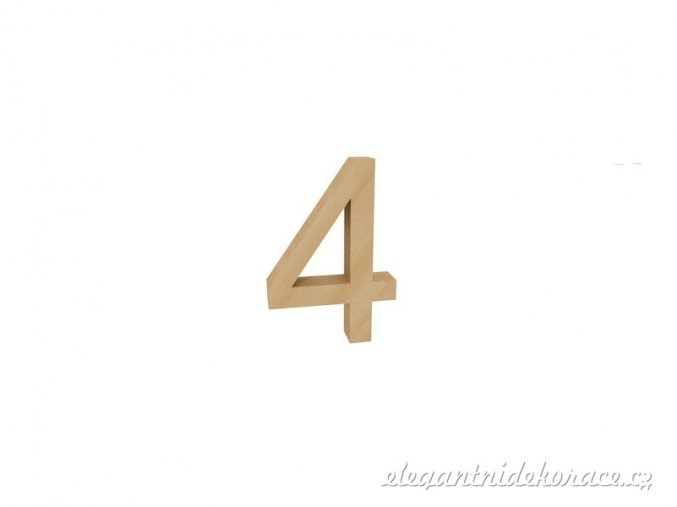 číslo 4 přírodní
