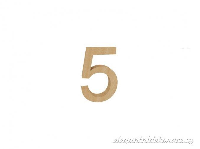 číslo 5 přírodní