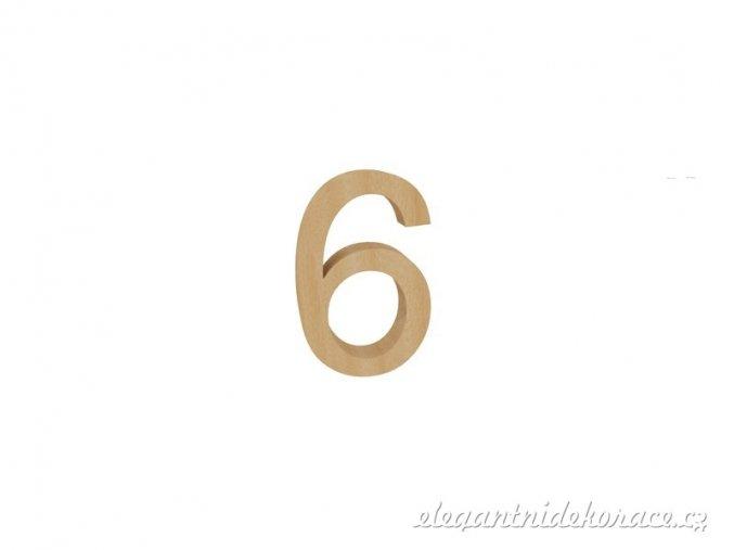 číslo 6 přírodní