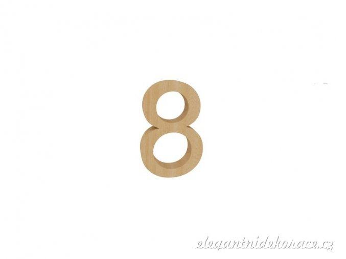 číslo 8 přírodní